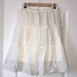 GAP Cream Lined Skirt